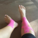 Mariah Lacy shins using TT TARGET TAPE®